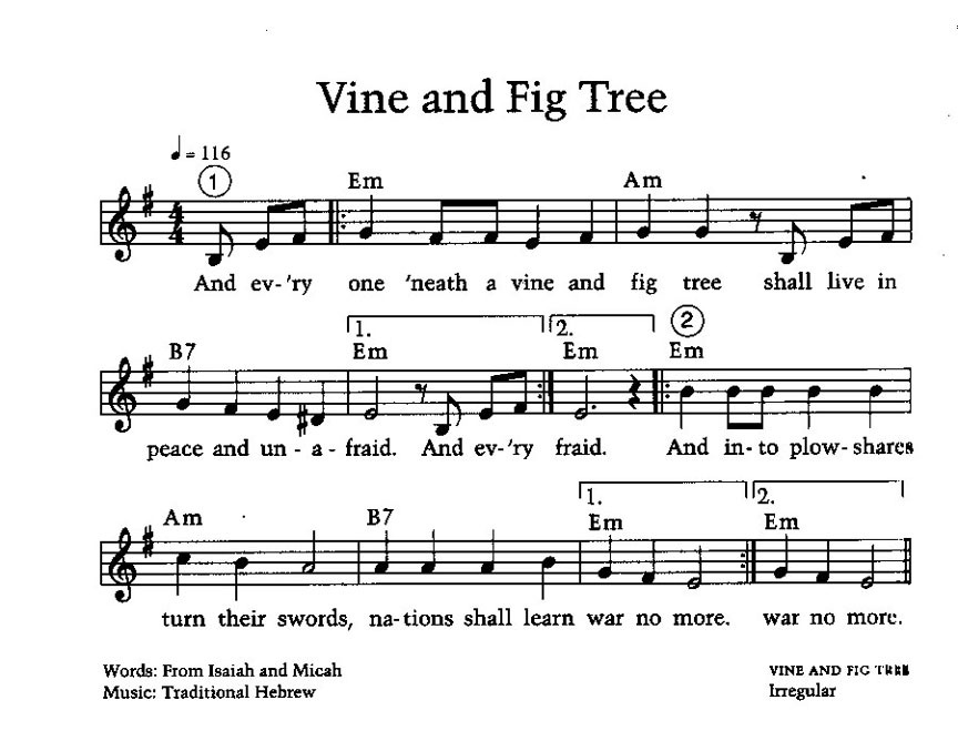 Vine and Fig Tree Song